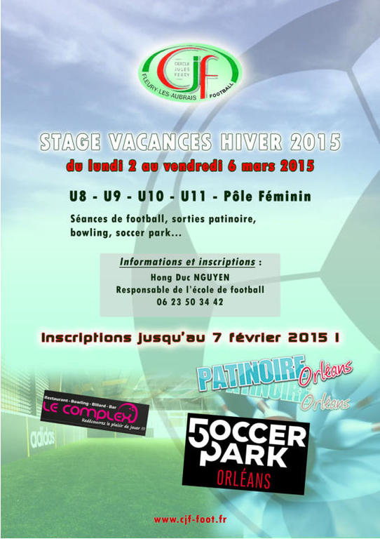 STAGES VACANCES D'HIVER CJF FOOTBALL